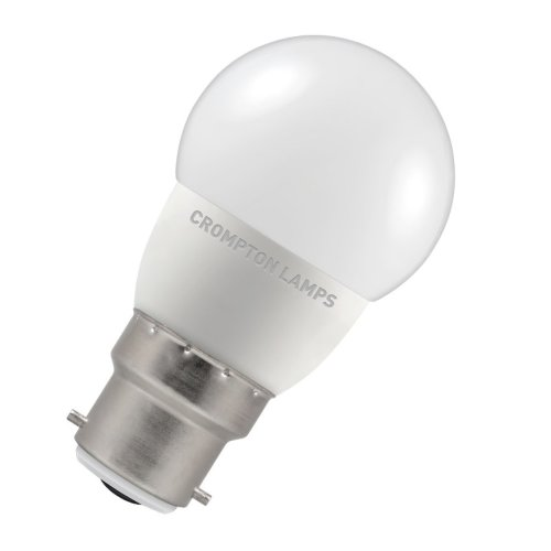 Crompton LED 45mm Round Thermal Plastic 5.5W B22d Very Warm White Opal