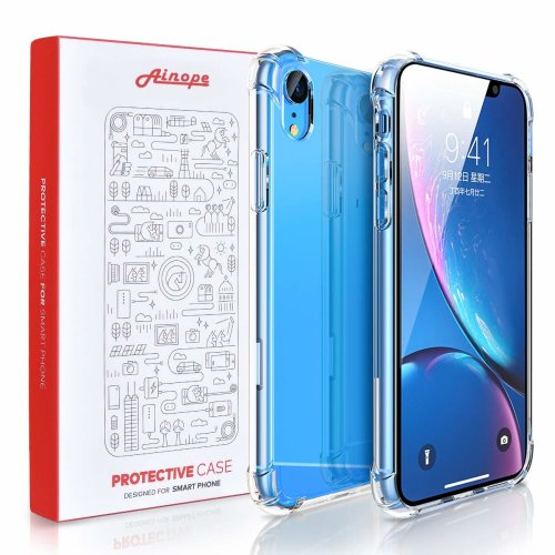 Phone Case Compatible iPhone Xr 6.1in, [Airbag Cushion][Crystal Clear] Shock-Absorption Cover with Soft TPU Full Protective Case Compatible Apple...