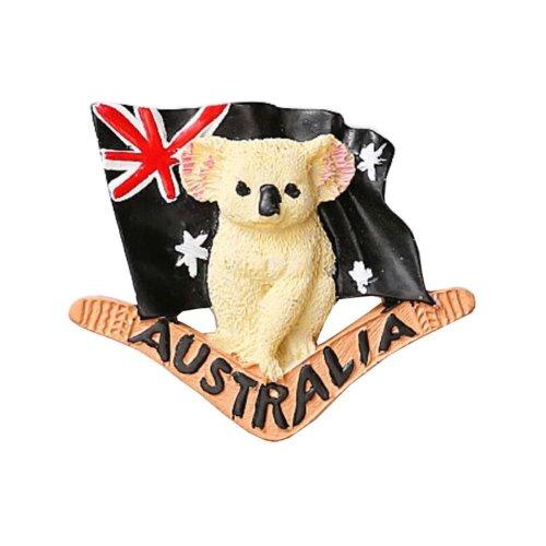 1 PCS Resin Fridge Magnet Kitchen Refrigerator Magnet Australia Series Cute Koala - 02