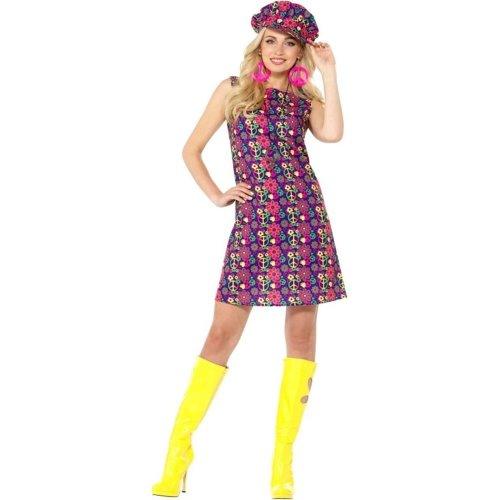 d257971dfb0 1960s Psychedelic CND Costume, 1960's Groovy Fancy Dress, UK Size 16-18