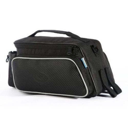 Roswheel Fashion Practical Bicycle Trunk Pannier Bike Rear Carrier Bag Pack Impact Resistance and Tear-resistant Black