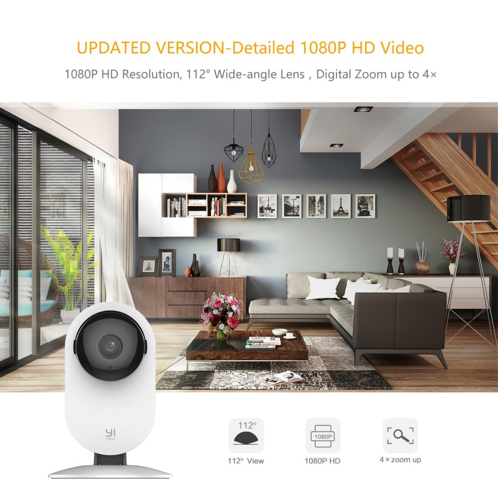 YI 2pc 1080P Home Camera Wireless Indoor Security IP Camera with Night  Version Motion Detection Two Way Audio Home Security Surveillance System  for