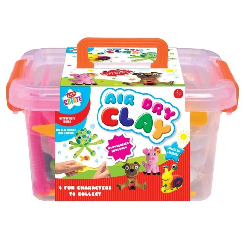 Kids Create Air Dry Clay In Tub Plus Accessories and Tools