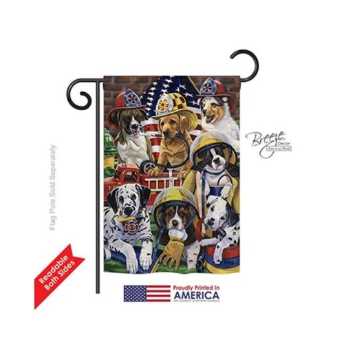 Breeze Decor 60048 Pets Hero Helpers 2-Sided Impression Garden Flag - 13 x 18.5 in.