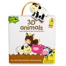 Chimp & Zee 3d Animals Puzzles (4 X 3 Pieces)