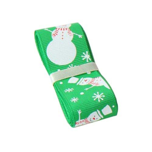 DIY Ribbon for Christmas, [Snowman] Green Christmas Gift Wrapping Streamers