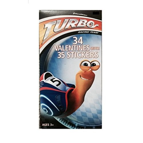 Turbo Valentines Day Cards with 34 Valentines and 35 Stickers