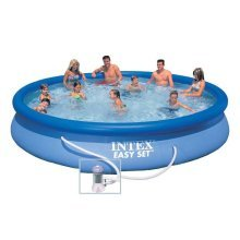 Intex 28158 Easy Set Inflatable Above Ground Round Pool 457x84cm
