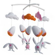 Baby Toys, Rotatable Crib Mobile, [Hide and Seek] Super Cute Decor