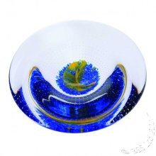 To the Moon and Back - Sentiments Art Glass Dish by Caitherness Glass