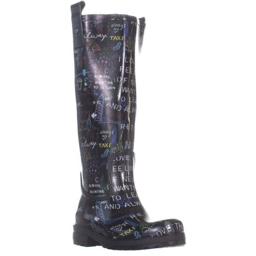DKNY Niagara Knee High Rain Boots, Multi 999, 3.5 UK