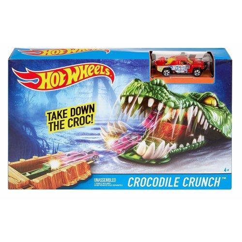Hot Wheels Crocodile Crunch Track Set With Vehicle