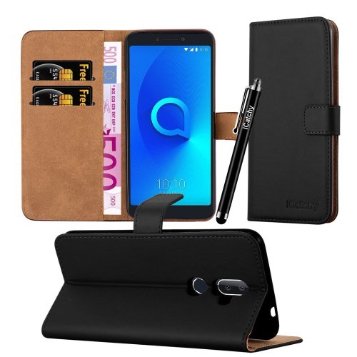 For Alcatel 3V Premium Leather Wallet Case Cover