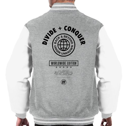 Divide & Conquer Worldwide Edition Globe Men's Varsity Jacket