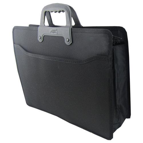 Executive Conference PVC Terylene Laptop Handle Briefcase (37 x 28 x 10cm) BLACK