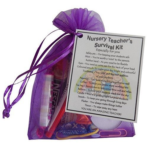Nursery Teacher's Survival Kit Gift | Pre-School Teacher Keepsake Gift