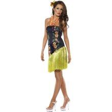 Medium Black Luscious Luau Fancy Dress Costume. -  luau costume hawaiian dress luscious fancy ladies outfit adult hula girl party womens