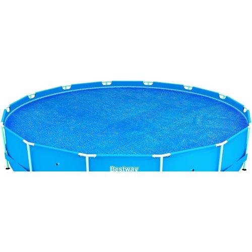 Bestway Steel Frame Solar Pool Cover - 15 feet, Blue