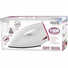 1400W Non-Stick Soleplate Lightweight Clothes Dry Iron Corded - Pink