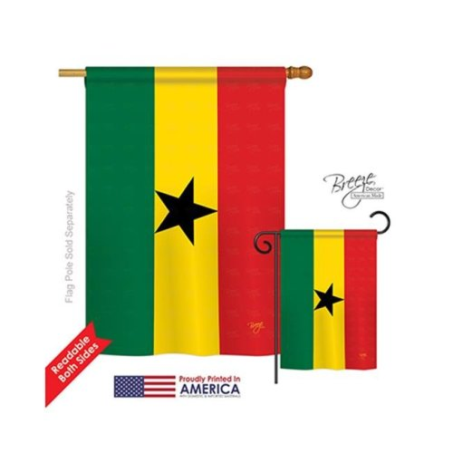 Breeze Decor 08221 Ghana 2-Sided Vertical Impression House Flag - 28 x 40 in.