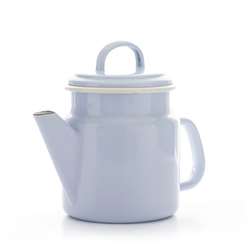 Dexam Vintage Home 1.2L Enamel Coffee Pot / Teapot, Dove Grey