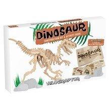 Dinosaur Construction Kit & Activity Book - Velociraptor