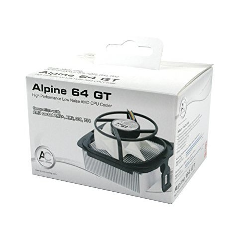 ARCTIC Alpine 64 GT Rev 2 CPU Cooler AMD Supports Multiple Sockets 80mm PWM Fan at 22dBA