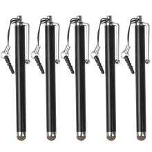 TRIXES Black Microfiber Stylus Pen 5 Pack for Smartphone & Tablet Capacitive Touch Screens