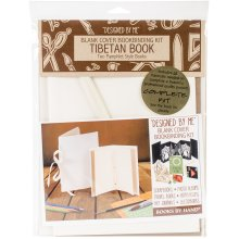 Lineco Books By Hand Blank Cover Bookbinding Kit-Tibetan Book, Ivory 4.25x6.5 & 5x7.5