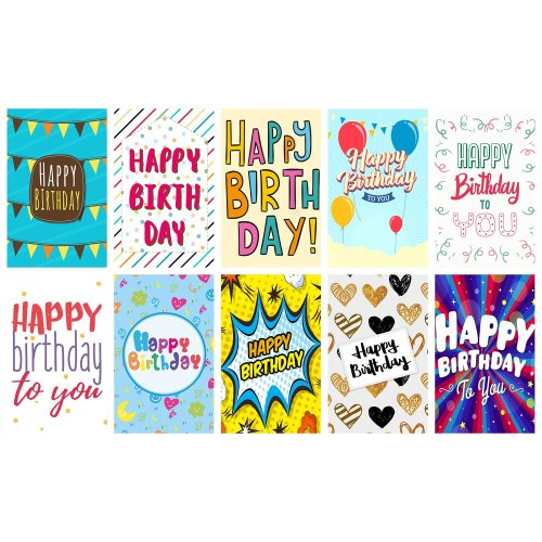 20 Words Birthday Cards Envelopes By Greetingles 10 Designs Made In UK On OnBuy