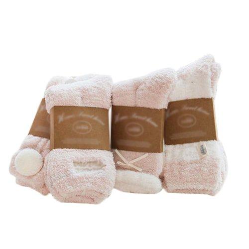4 Pairs Adult Floor Socks Sleep Socks Winter Casual Socks #3