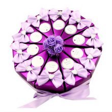 A Set of 10 PCS Wedding Festival Candy Bag/Chocolate Box/Gift Carrier Purple Cak