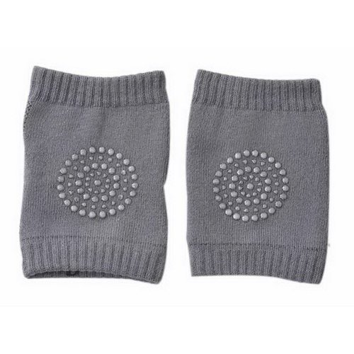Baby Crawling Knee Pads Breathable Mesh Non-Slip Kneepads For Infants, Dark Gray