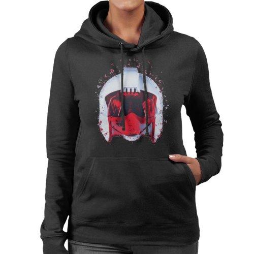 Original Stormtrooper Rebel Pilot Helmet Shatter Effect Women's Hooded Sweatshirt