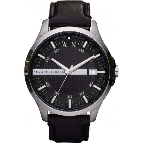 Armani Exchange Watch AX2101 Date Watch Black Leather Man