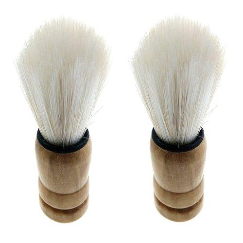 Professional Barber Salon Shave Shaving Razor Brush Wood Handle Tool
