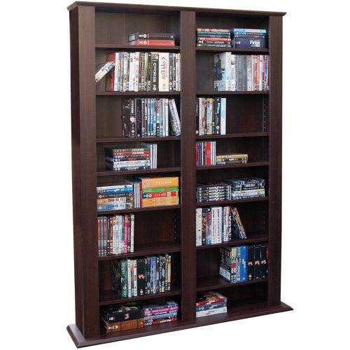 GENESIS - Multimedia 1060 CD / 420 DVD Blu-ray Storage Shelves - Dark Oak