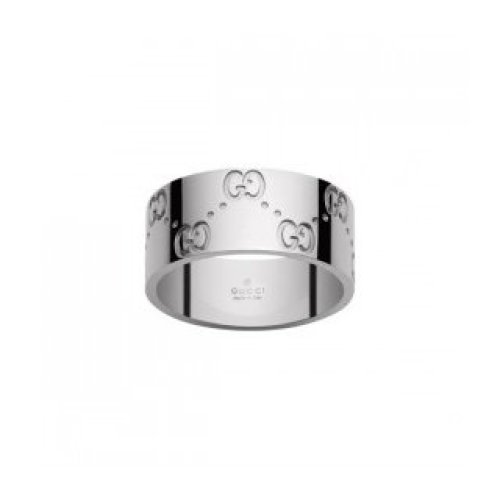 GUCCI RING ICON 18KT WHITE GOLD MEASUREMENT 15 073238 09850 9000