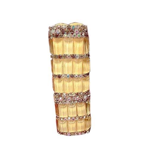 Luxury Rhinestone Lipstick Design Portable Lighter Cigarette Lighter Best Gift, #07