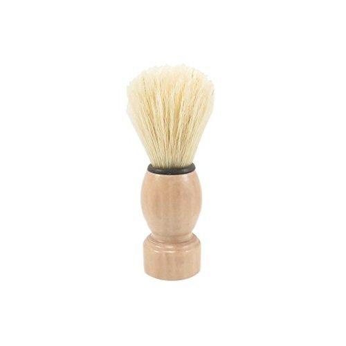 Mens Boar Bristle Shaving Brush 4 14 x 1 34 Natural Wood Handle