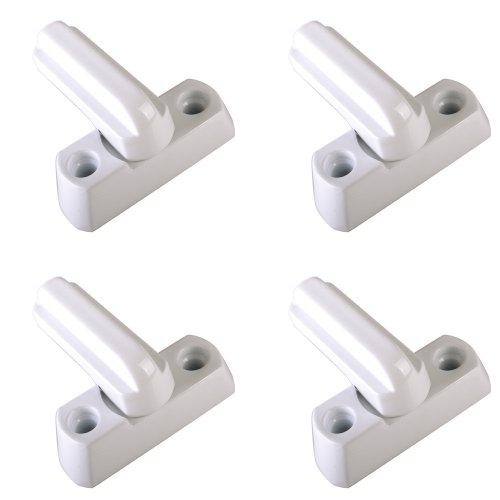 4pcs Sash Blocker Window Jammer - White - Extra Security for UPVC Door / Window Restrictor Lock