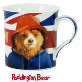 Official Paddington Bear Movie Mug Cup Bone China Licenced Merchandise Union Jack Flag