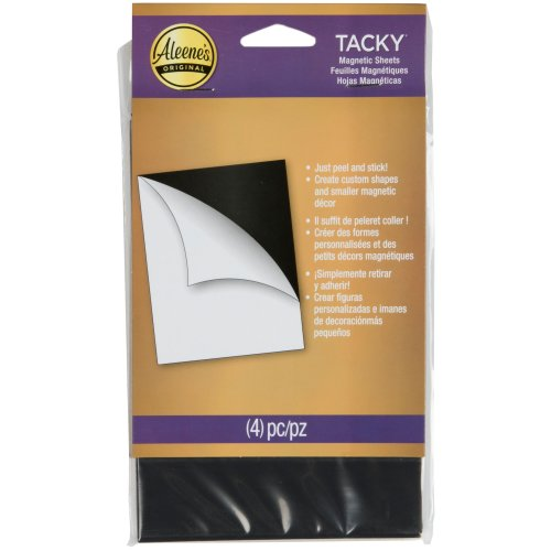 """Aleene's Magnetic Tacky Sheets-4""""X6"""" 4/Pkg"""