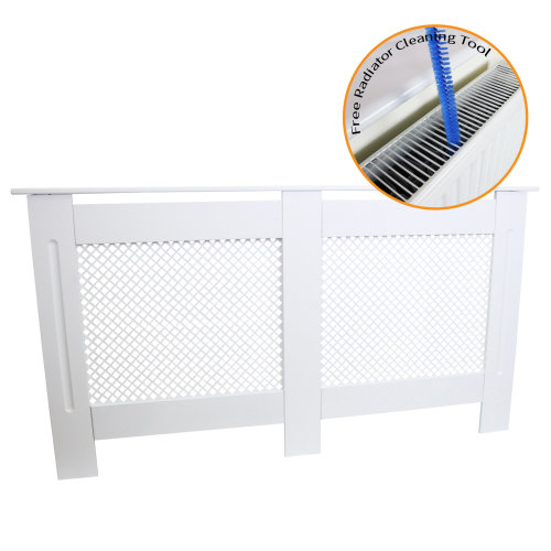 Radiator Cover MDF White 1515mm