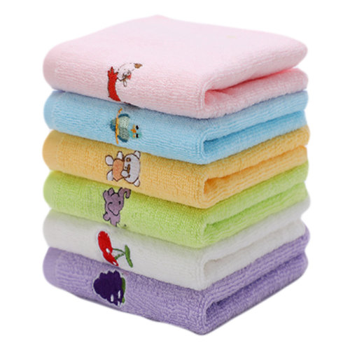 Set of 6 Rectangular Cotton Soft Touch Towels for Baby #3