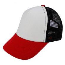 Children Baseball Cap Mesh Hat Fitted Cap Sports Caps, Red-Black-White