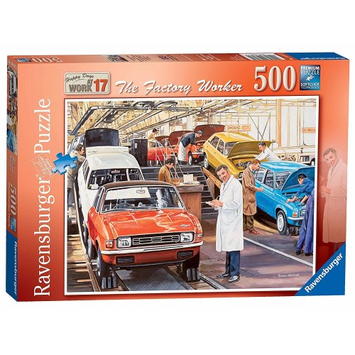Ravensburger Happy Days at Work No.17 - The Factory Worker 500pc Jigsaw Puzzle