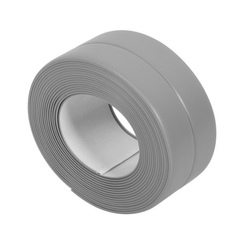Sticky Wall Sealing Strip Grey Edge Corner Caulk Tape PVC Mildew Proof Seamless Wall Trimmer Protection Decoration Kitchen Sink Bathtub Shower...