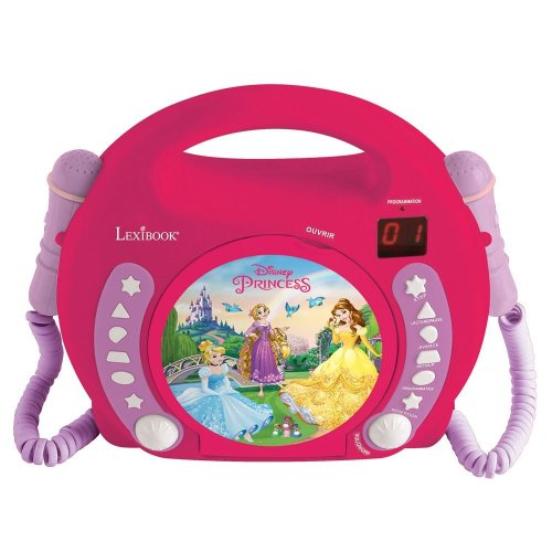 Lexibook RCDK100DP Disney Princess Portable CD Player with Microphone