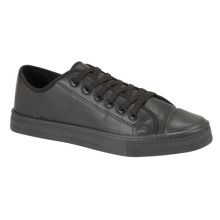 Boys Infants Children School Trainers Black